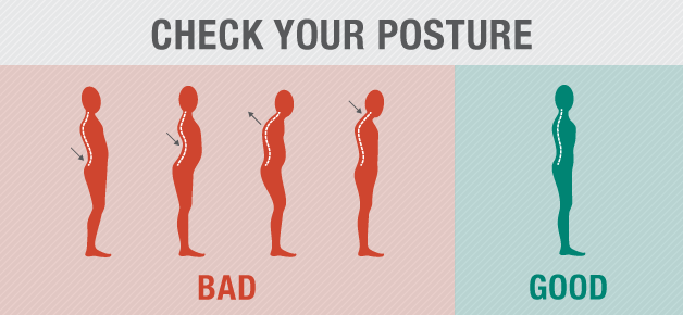 What should be the perfect posture to avoid back pain