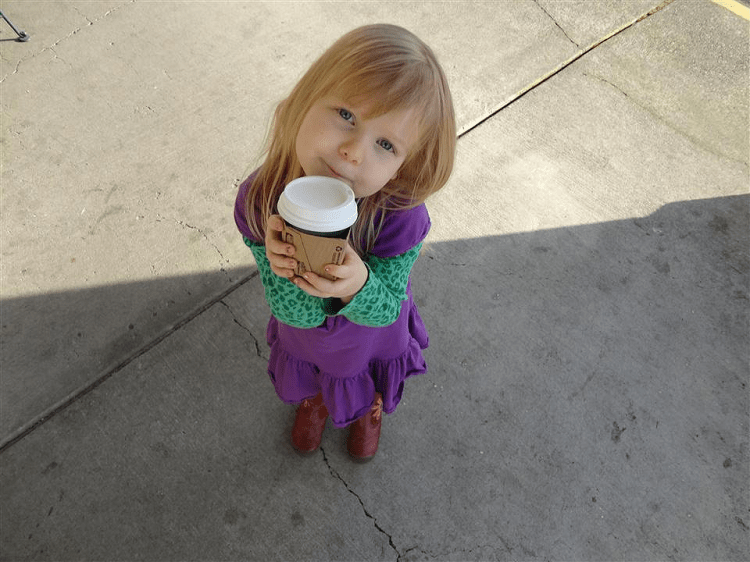Allowing kids to drink coffee