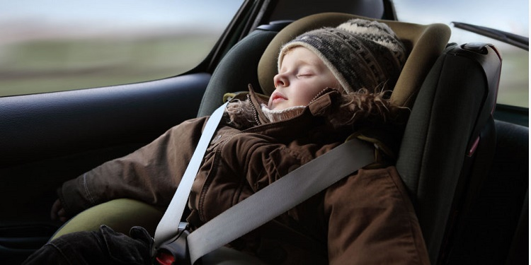 Allowing your kids to keep on their winter coats while strapped in the car