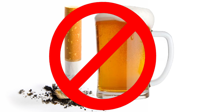 Cut back on smoking and drinking
