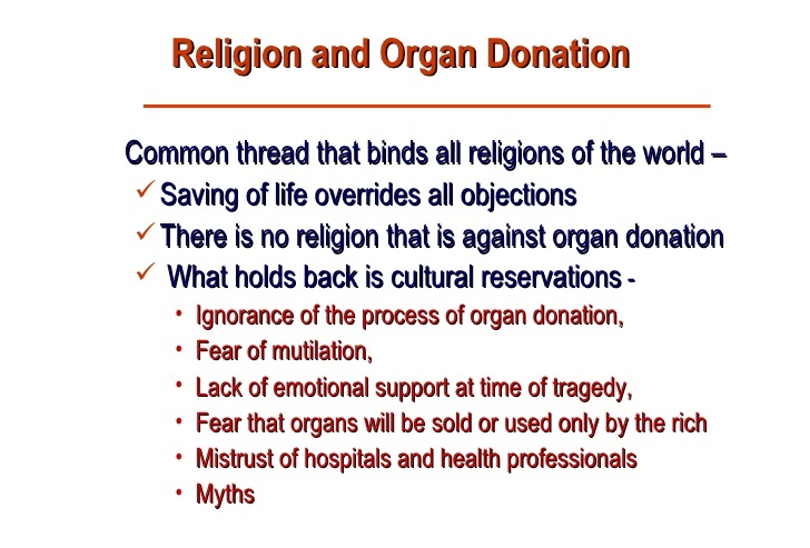 Religion and Organ Donors