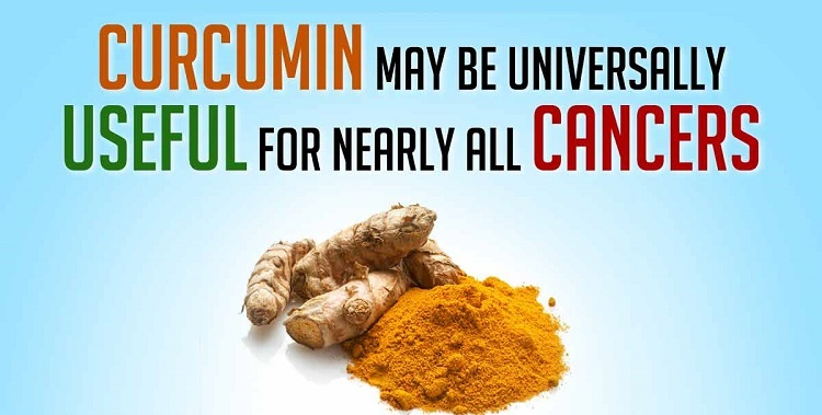 Which types of Cancer does turmeric help to cure?