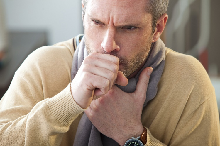 A persisting cough