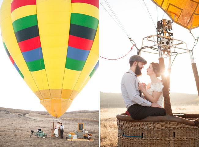 Hit the sky- Either in a helicopter or a hot air balloon