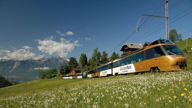 The Lucerne to Montreux rail route
