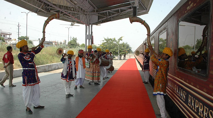 The route of the Maharajas Express of India