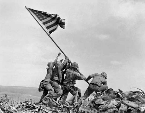 American Flag Raising At Iwo Jima, 1945