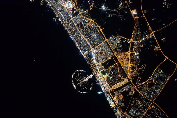 Dubai from iss