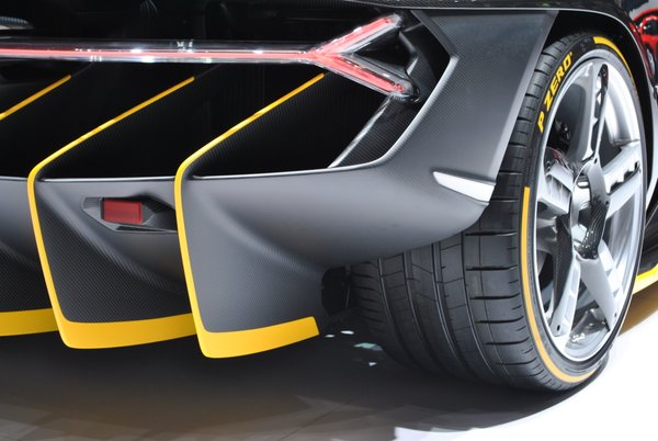 The Lamborghini Centenario is a short car