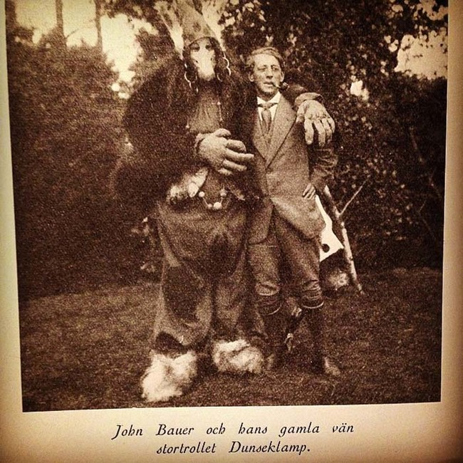 John Bauer and his favorite doll