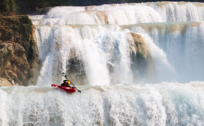 Kayaking at Victoria Falls