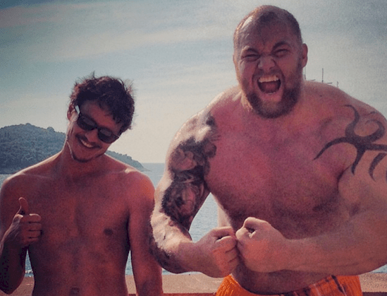 The mountain is actually one of the strongest men on Earth