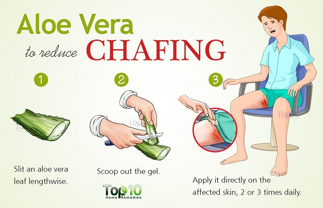 Aloe Vera Gel treatment for chafing