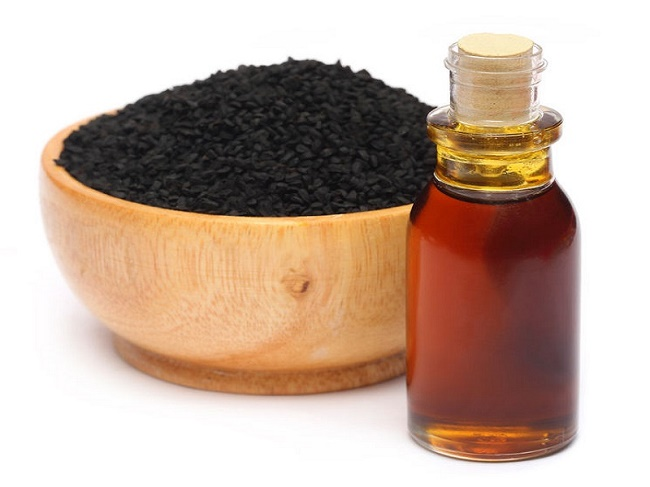 Black seed oil to treat boils