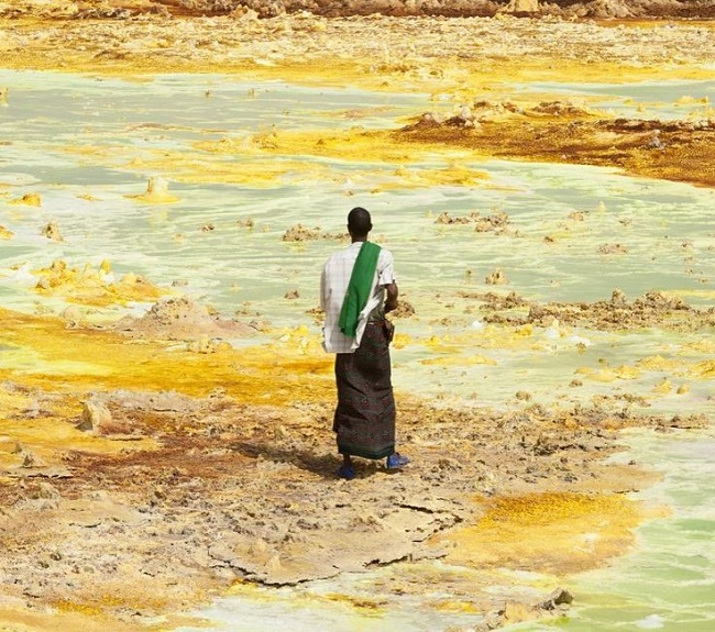 Danakil depression Multicolored Diverse Environment