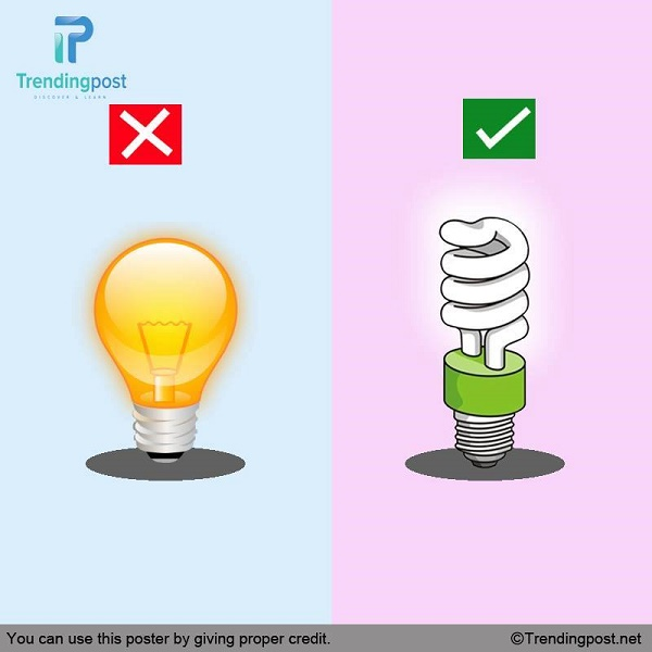 Replace Your Tungsten Bulbs with CFL