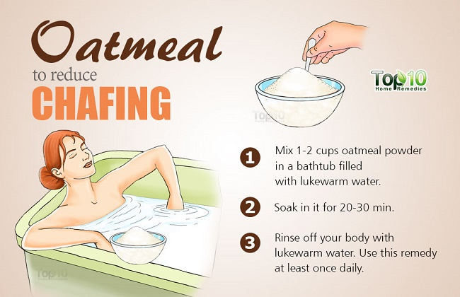 oatmeal to reduce pain of chafed thighs