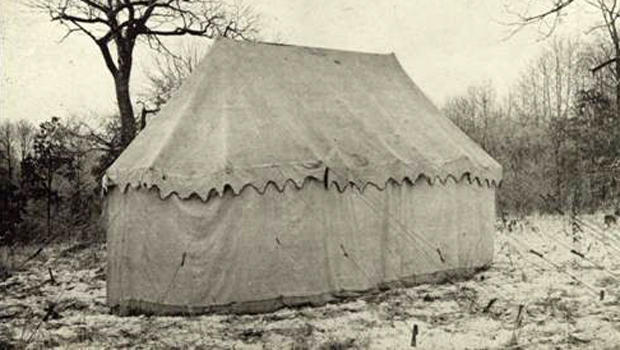 original tent and sleeping quarters of General George Washington