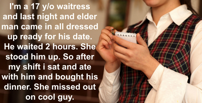 waitress did such a heartwarming deed