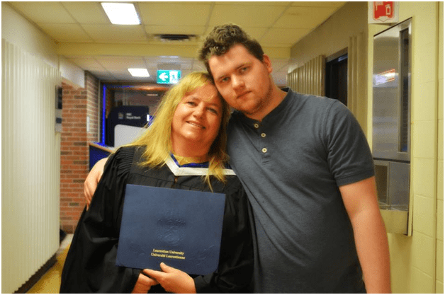 Colleen Sidun With her son