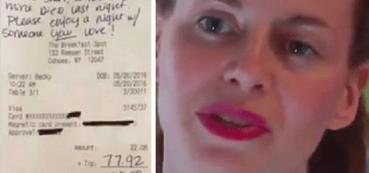 Grieving customer writes a heartfelt message with a generous tip on the waitress's bill