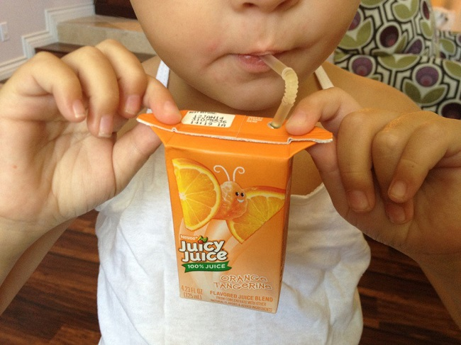 Juice box handles