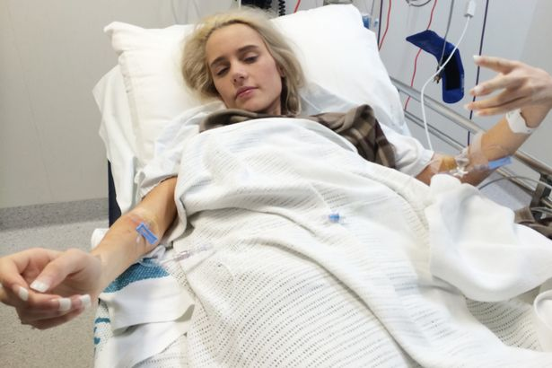 Hospitalization for the first time