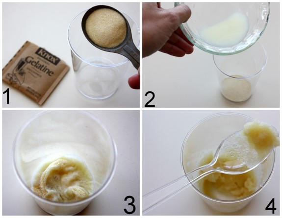 Measure the ingredients and mix