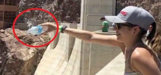 She tried pouring water over the Hoover dam but gets a huge shock