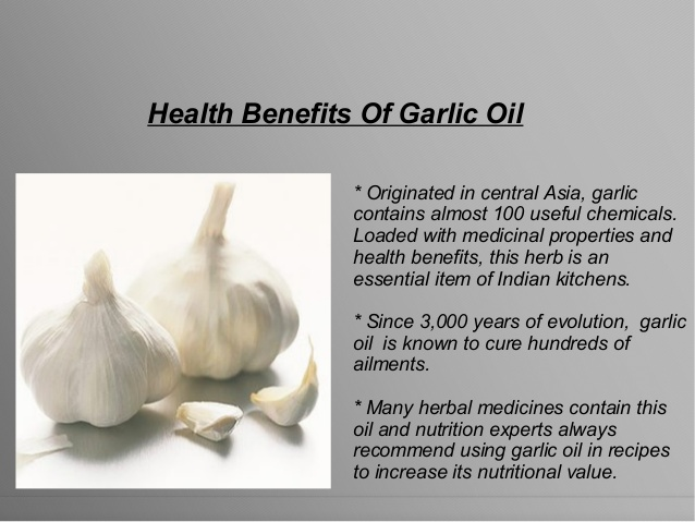 Health benefits of garlic oil