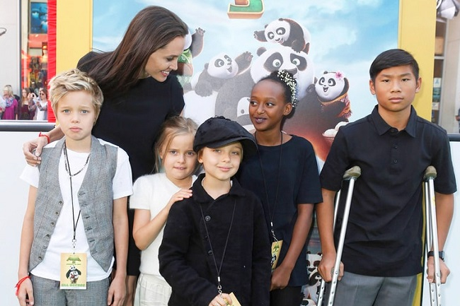 Kids of Brand and Angelina Jolie