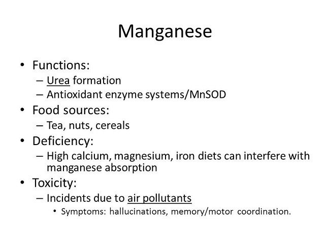Manganese deficiency symptoms
