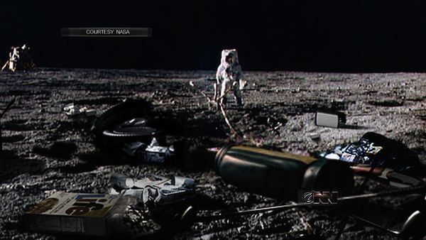 100 items were discarded on the moon