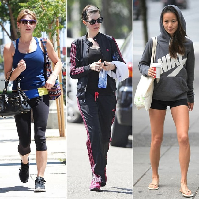 Celebrities going to gym