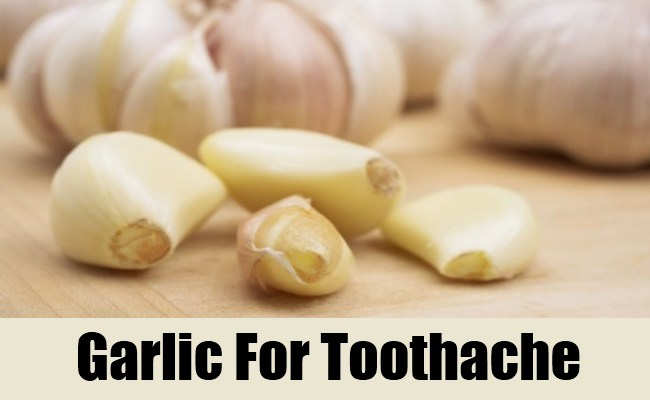 Garlic relieves toothache