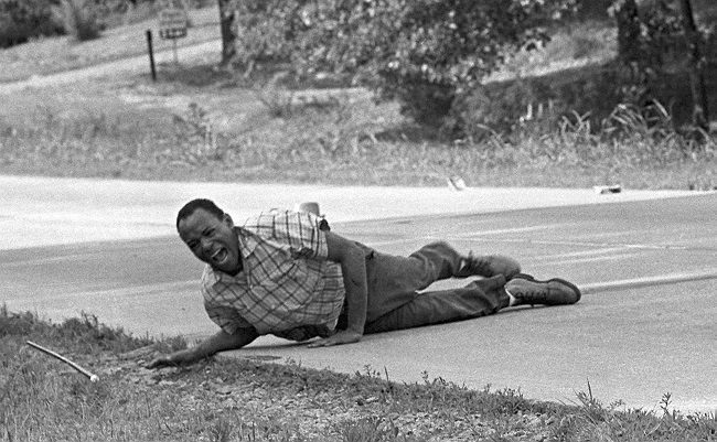 Wounded Civil rights leader James Meredith