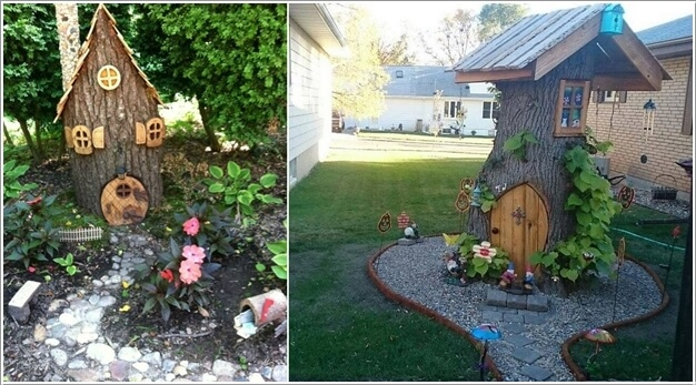 Convert your tree stump into a fairy house