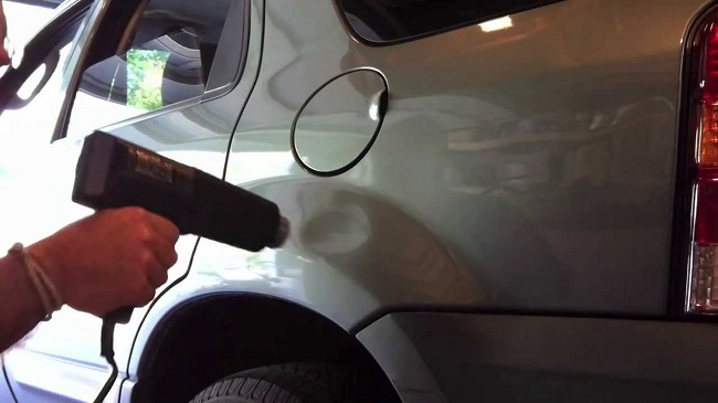 Use a Hair Dryer to repair car dent