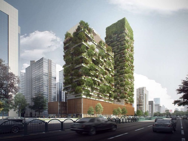 Vertical forests will help tackling pollution