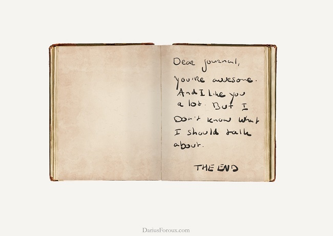 Write down all your worries in a journal