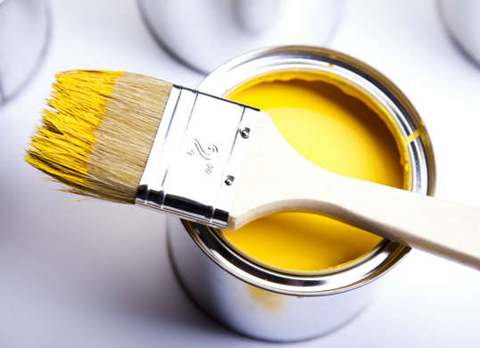 Clean paintbrushes