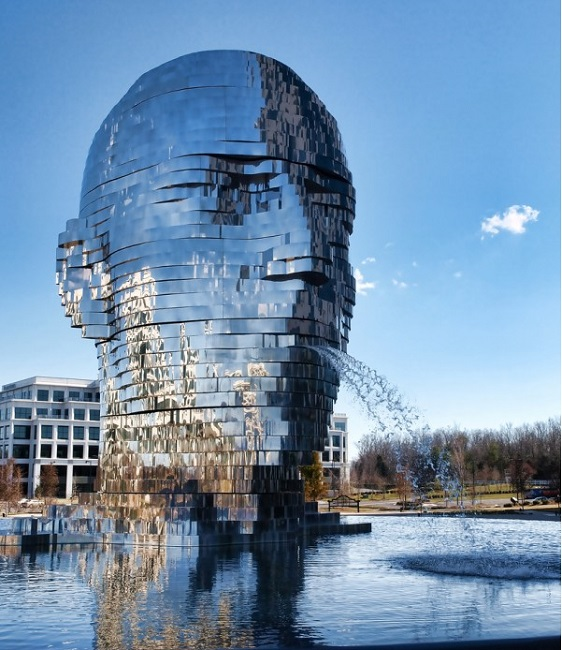 Metalmorphosis Mirror Fountain, USA