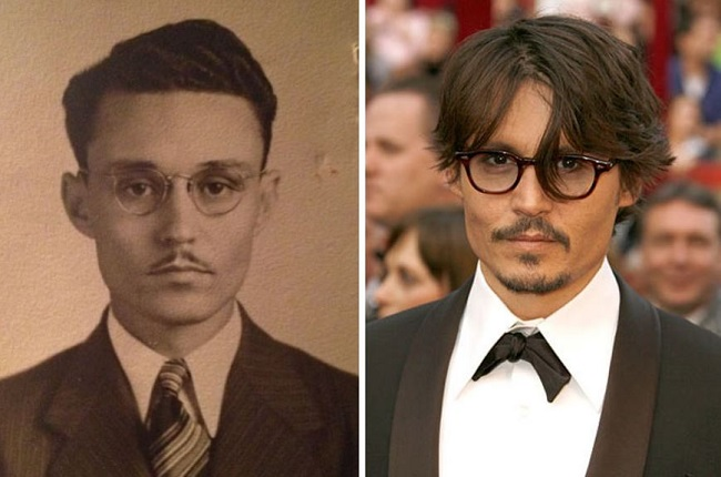 Johnny Depp and Johnny Depp back to the past