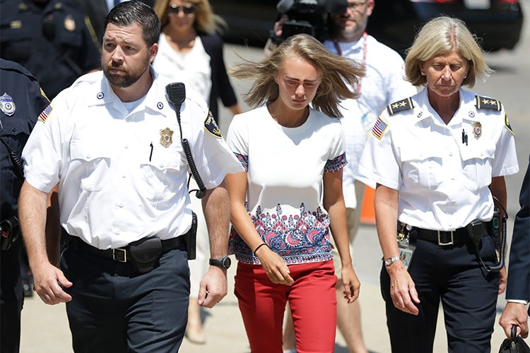 Michelle Carter with cops