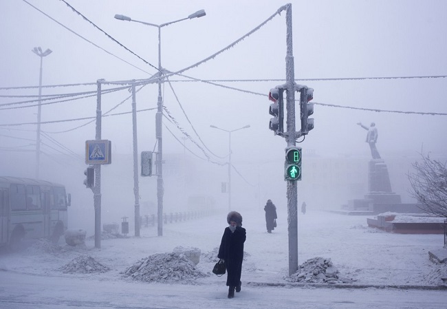 Oymyakon sees extremely low temperatures