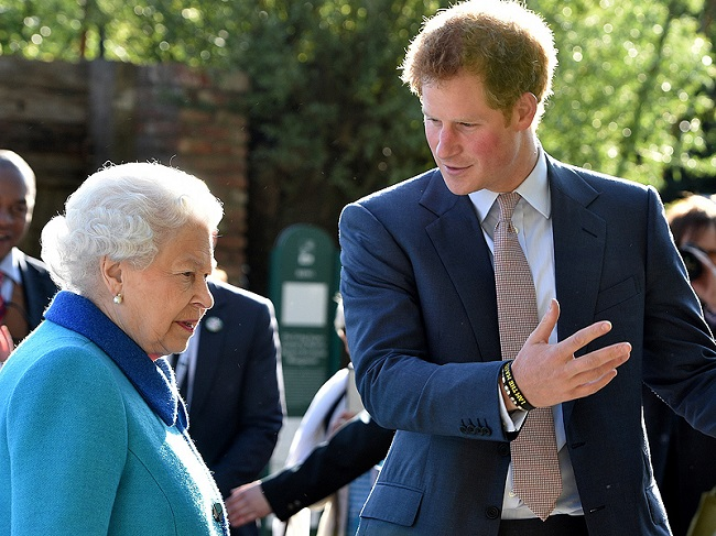 The Queen with prince harry.jpg