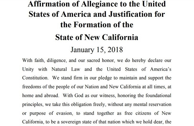 The declaration of independence for the 51st state