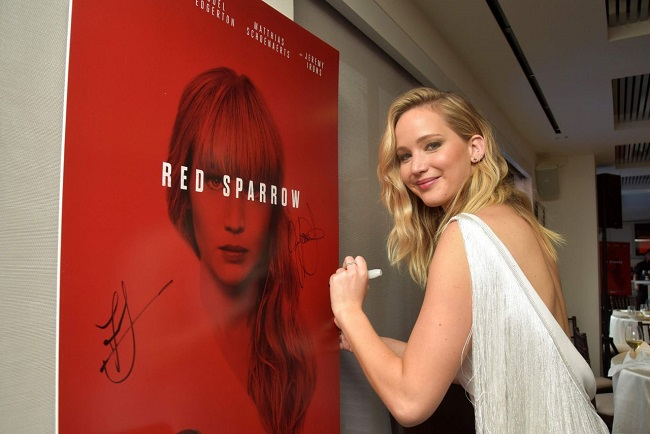 jennifer lawrence red sparrow lunch