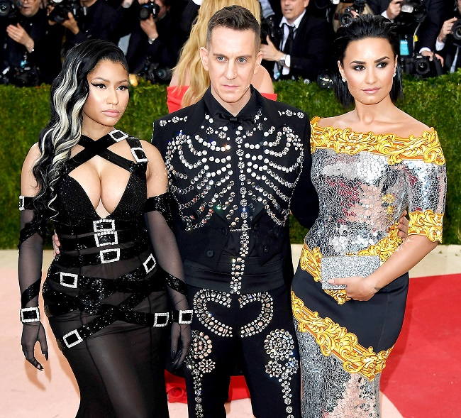 Nicki Minaj, Jeremy Scott and Demi Lovato