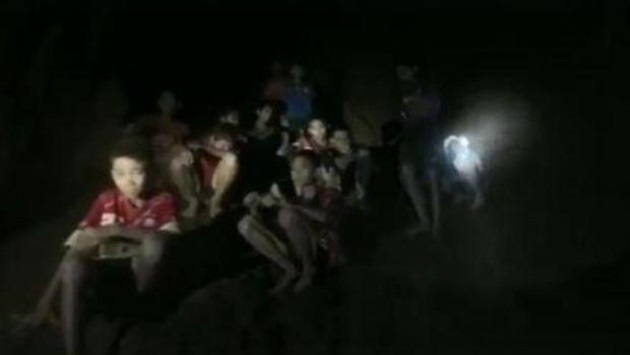 Soccer team kids trapped in cave